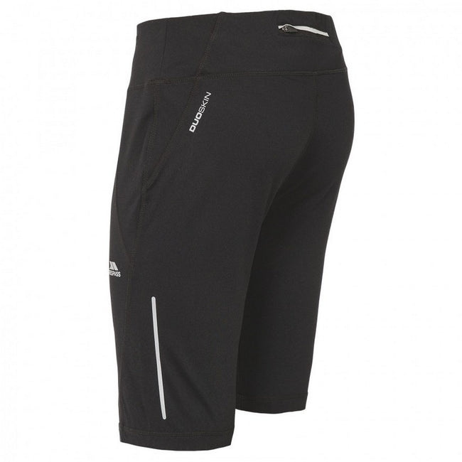 Black - Back - Trespass Womens-Ladies Melodie Active Shorts