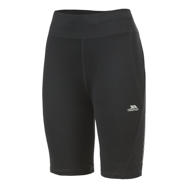 Black - Front - Trespass Womens-Ladies Melodie Active Shorts