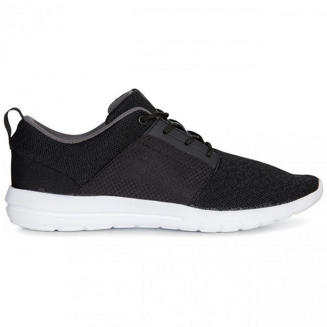 Black - Back - Trespass Mens Romanetti Sneakers