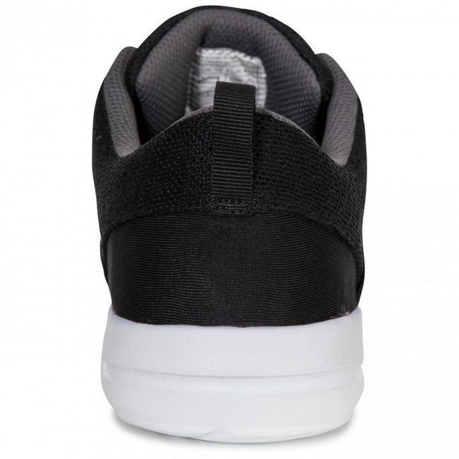 Black - Pack Shot - Trespass Mens Romanetti Sneakers