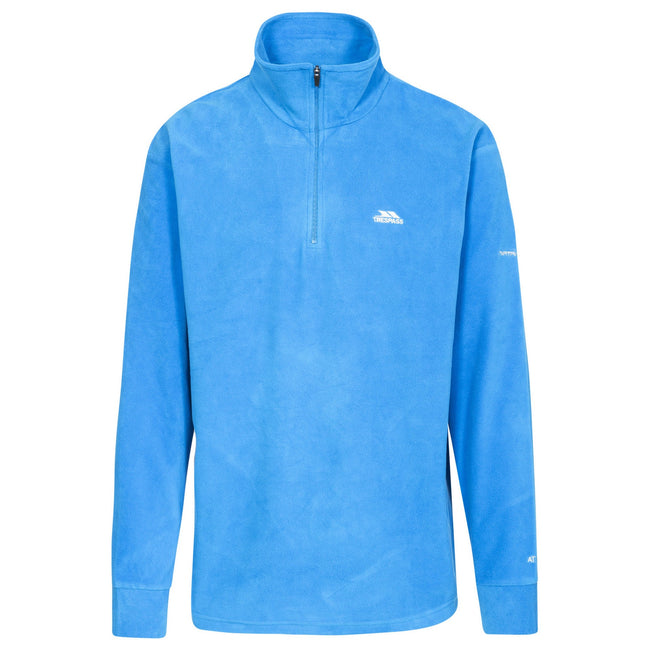 Blue - Front - Trespass Childrens Boys Masonville Zip Neck Microfleece Top