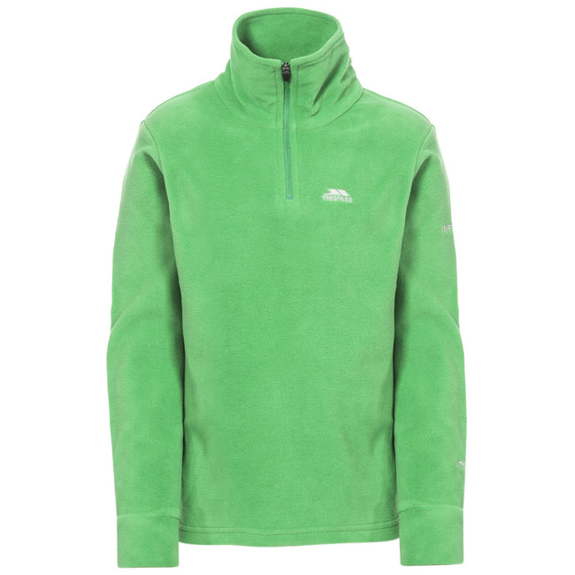 Clover - Front - Trespass Childrens Boys Masonville Zip Neck Microfleece Top