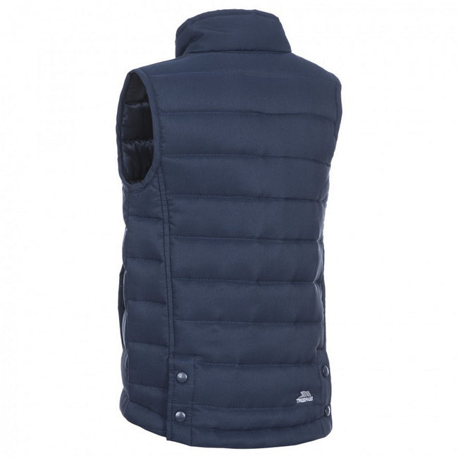 Navy - Back - Trespass Childrens-Kids Jadda Quilted Sleeveless Gilet