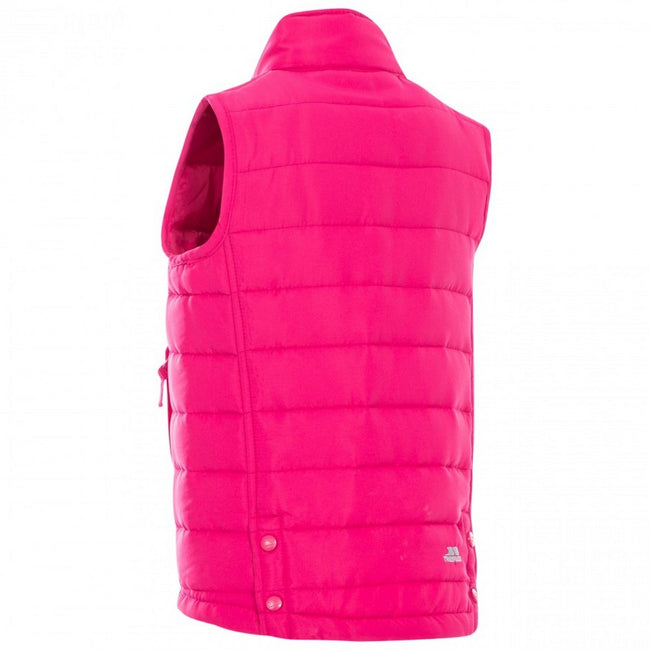 Pink Lady - Back - Trespass Childrens-Kids Jadda Quilted Sleeveless Gilet