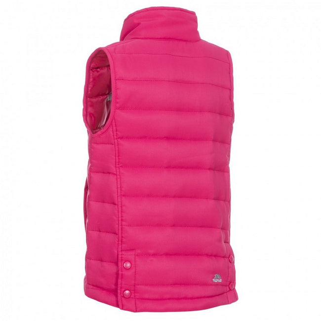 Raspberry - Back - Trespass Childrens-Kids Jadda Quilted Sleeveless Gilet