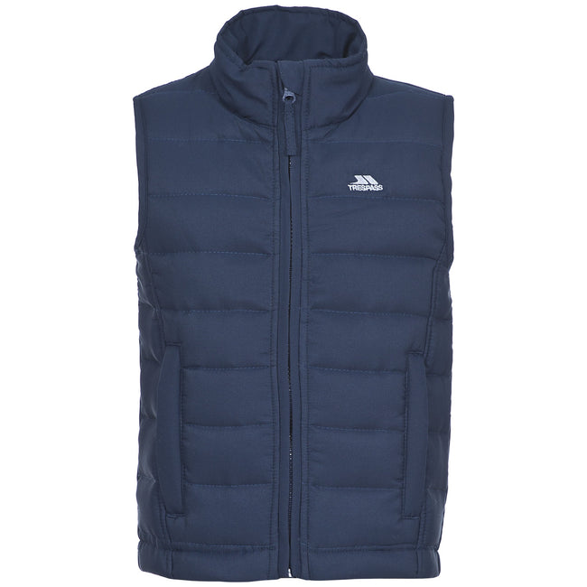 Navy - Front - Trespass Childrens-Kids Jadda Quilted Sleeveless Gilet
