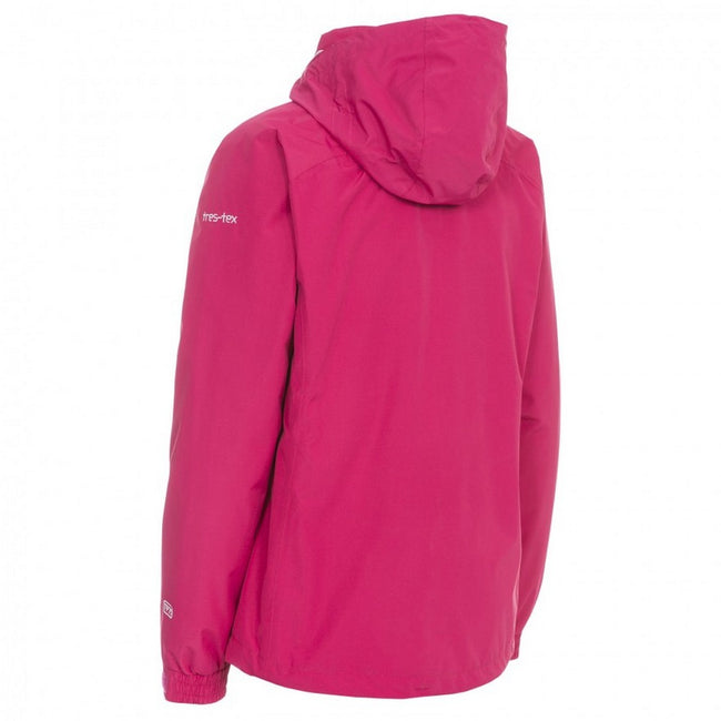 Cerise - Back - Trespass Womens-Ladies Trailwind Waterproof 3-In-1 Jacket