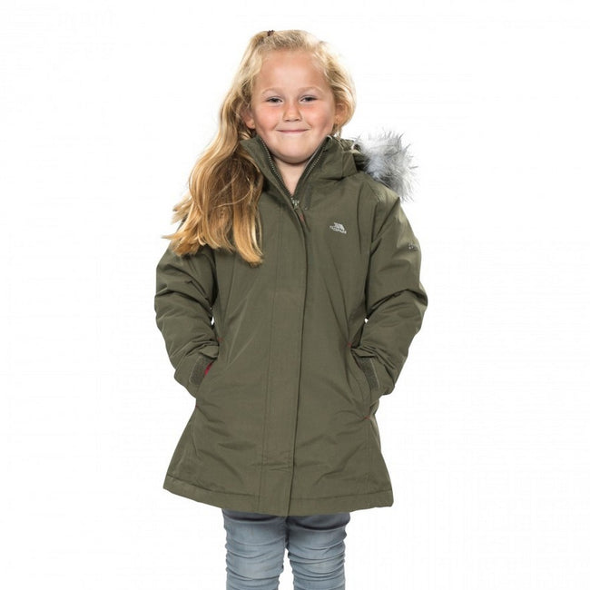 Moss - Side - Trespass Childrens Girls Fame Waterproof Parka Jacket