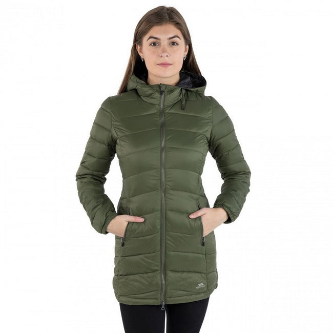Moss - Front - Trespass Womens-Ladies Ruin Padded Casual Jacket
