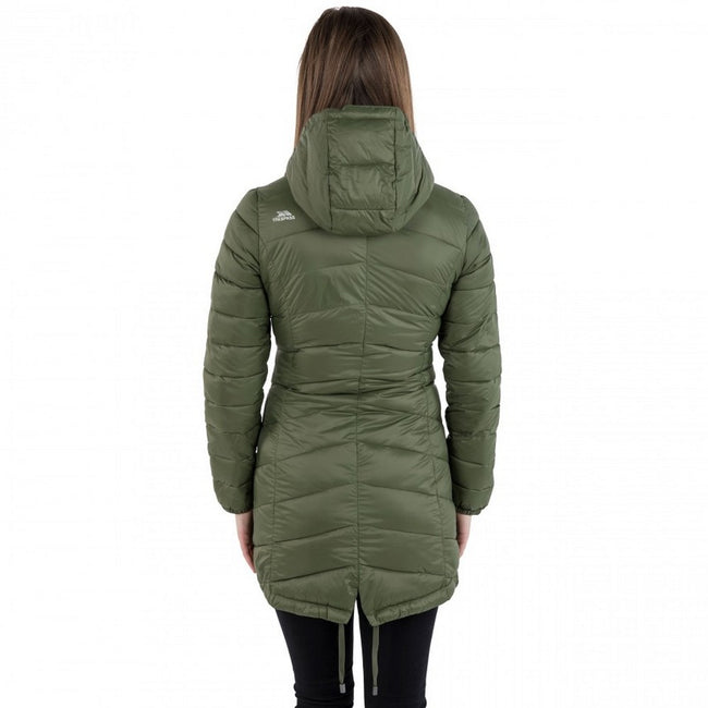 Moss - Back - Trespass Womens-Ladies Ruin Padded Casual Jacket