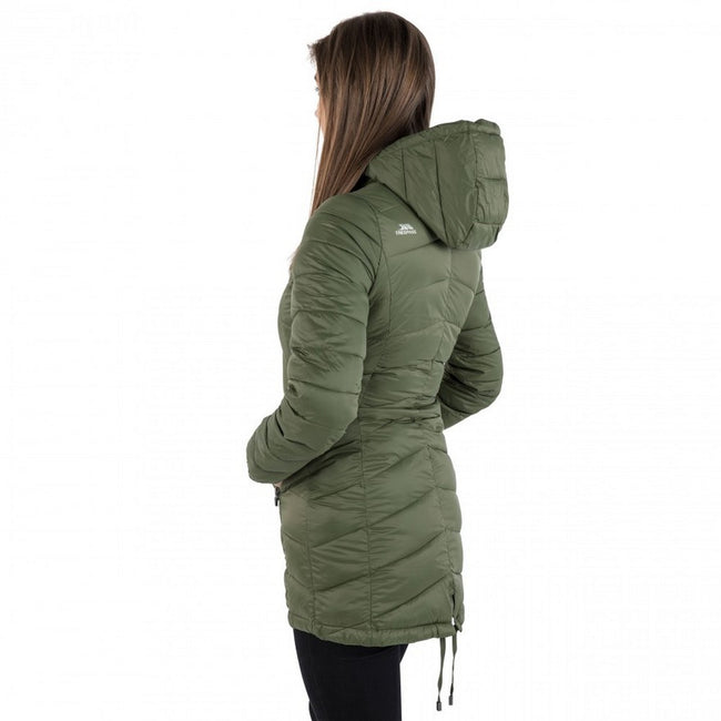 Moss - Side - Trespass Womens-Ladies Ruin Padded Casual Jacket