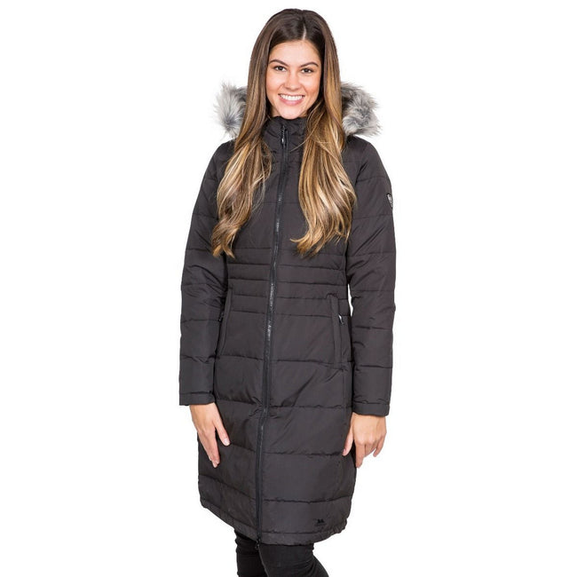 Basil - Front - Trespass Womens-Ladies Phyllis Parka Down Jacket