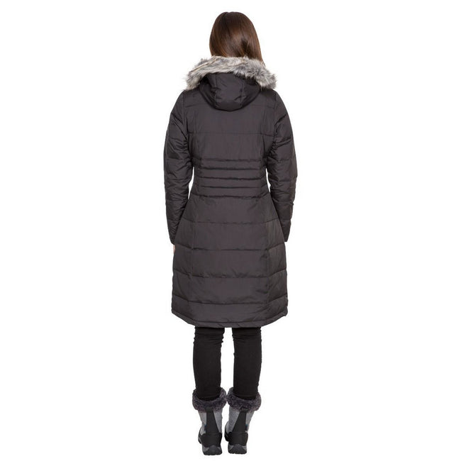 Basil - Back - Trespass Womens-Ladies Phyllis Parka Down Jacket