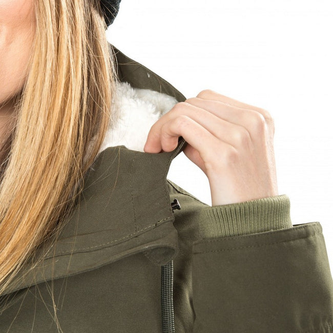 Moss - Close up - Trespass Womens-Ladies Forever Wateproof Parka Jacket