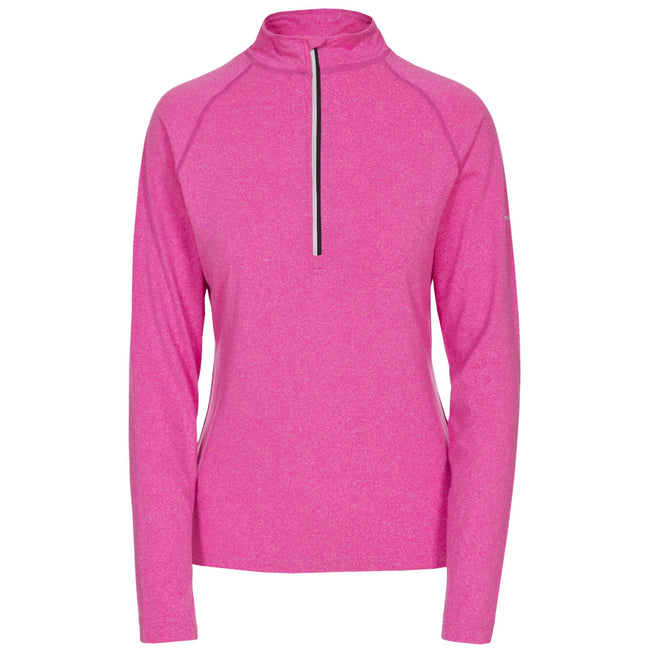 Pink Glow Marl - Front - Trespass Womens-Ladies Rado Long Sleeve Active Top
