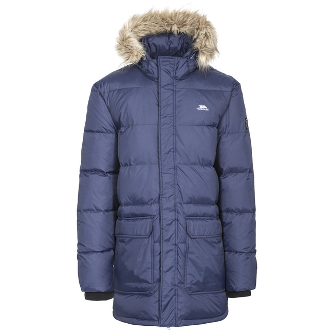 Red - Front - Trespass Mens Baird Padded Down Jacket