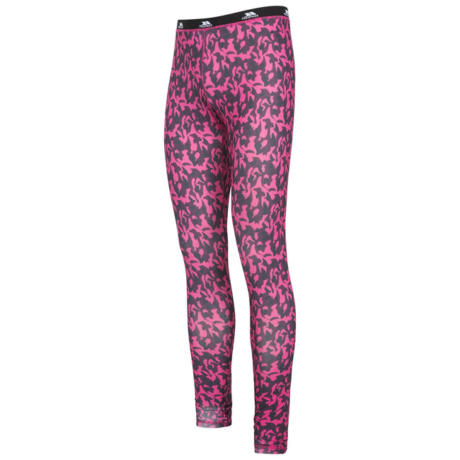 Pink Lady Print - Front - Trespass Womens-Ladies Soar Base Layer Pants
