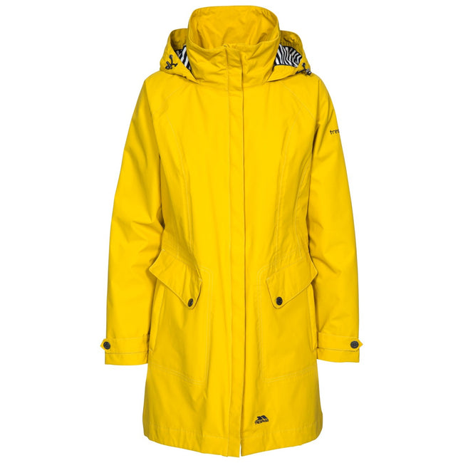 Gold - Front - Trespass Womens-Ladies Rainy Day Waterproof Jacket