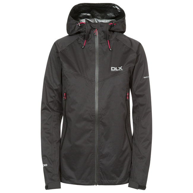 Black - Front - Trespass Womens-Ladies Erika II Waterproof DLX Jacket