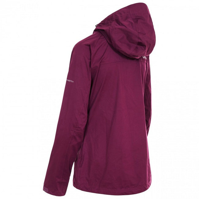 Blackberry - Back - Trespass Womens-Ladies Erika II Waterproof DLX Jacket