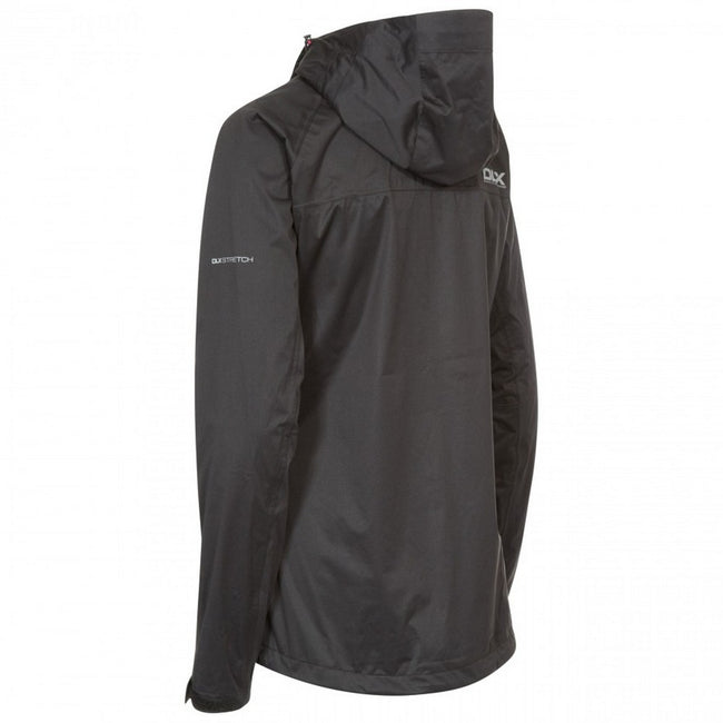 Black - Back - Trespass Womens-Ladies Erika II Waterproof DLX Jacket