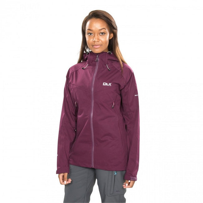 Blackberry - Side - Trespass Womens-Ladies Erika II Waterproof DLX Jacket