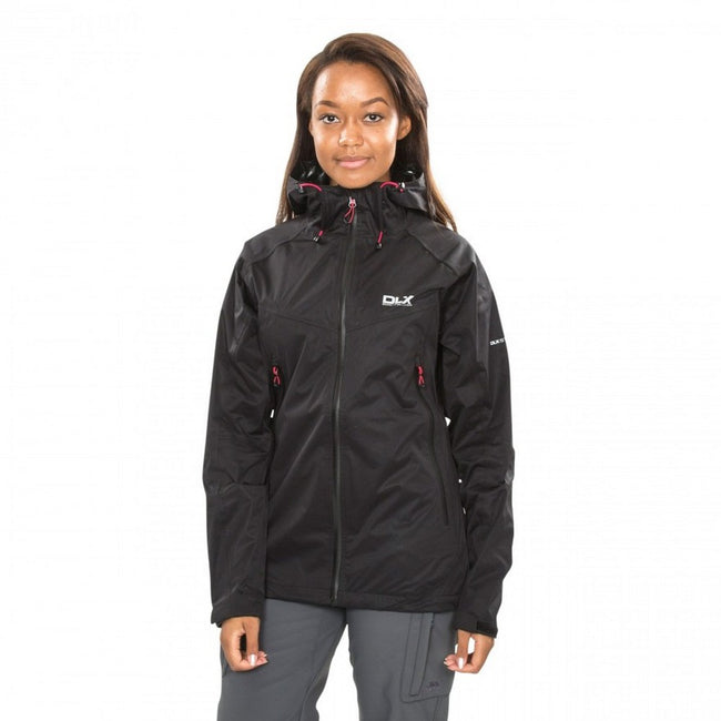 Black - Side - Trespass Womens-Ladies Erika II Waterproof DLX Jacket