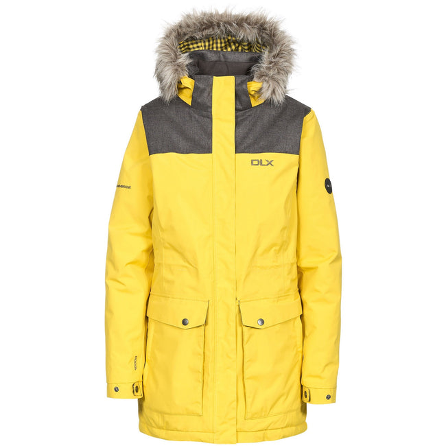 Gold - Front - Trespass Womens-Ladies Garner Waterproof DLX Parka Jacket