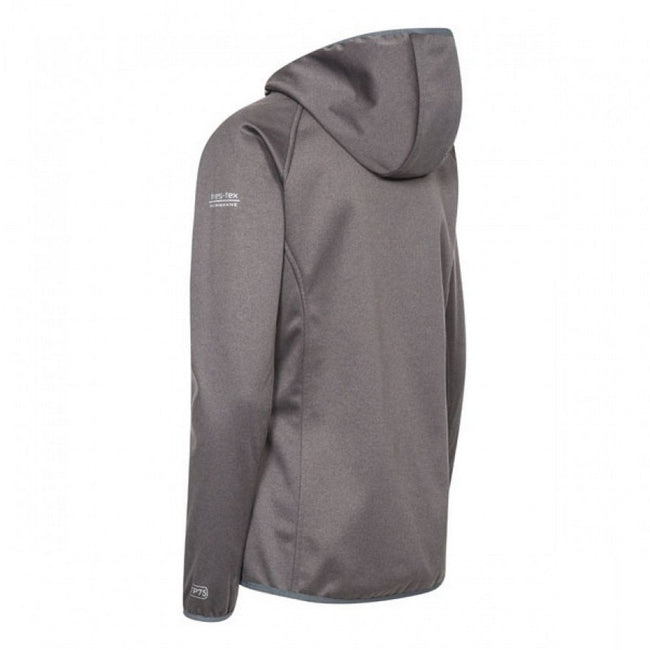 Carbon Marl - Back - Trespass Womens-Ladies Shelly Waterproof Softshell Jacket