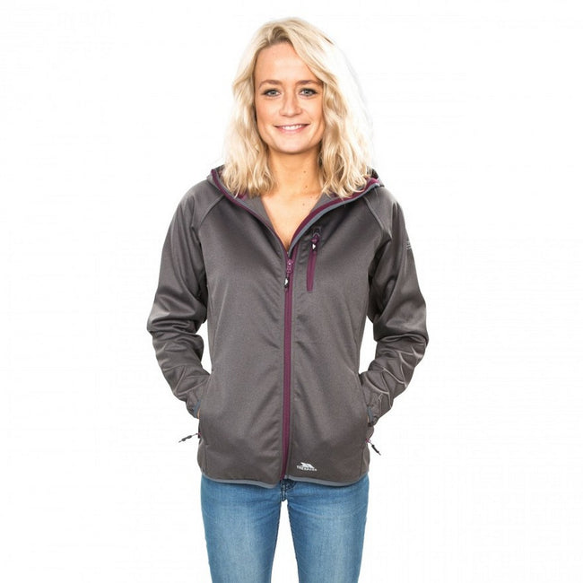 Carbon Marl - Side - Trespass Womens-Ladies Shelly Waterproof Softshell Jacket