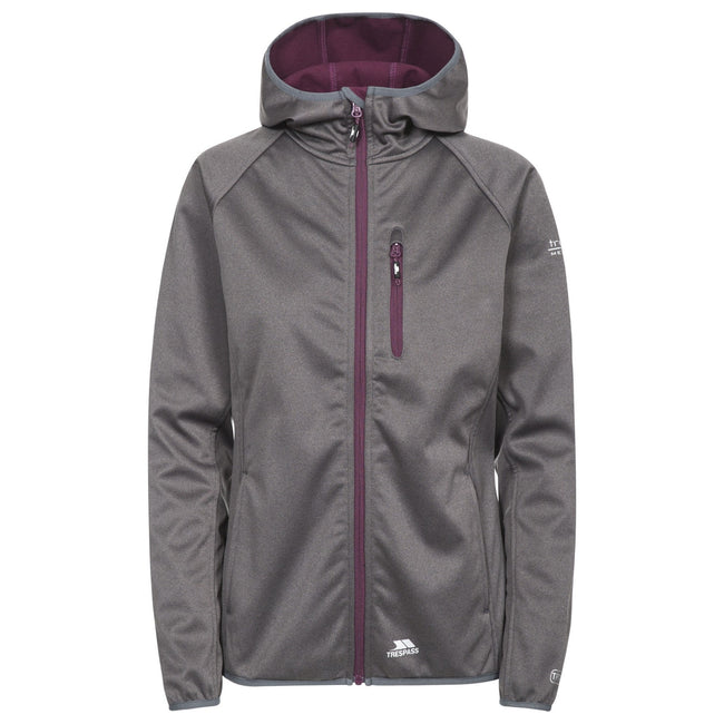 Carbon Marl - Front - Trespass Womens-Ladies Shelly Waterproof Softshell Jacket
