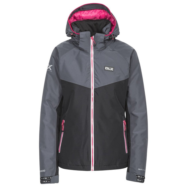Black - Front - Trespass Womens-Ladies Crista Waterproof DLX Ski Jacket