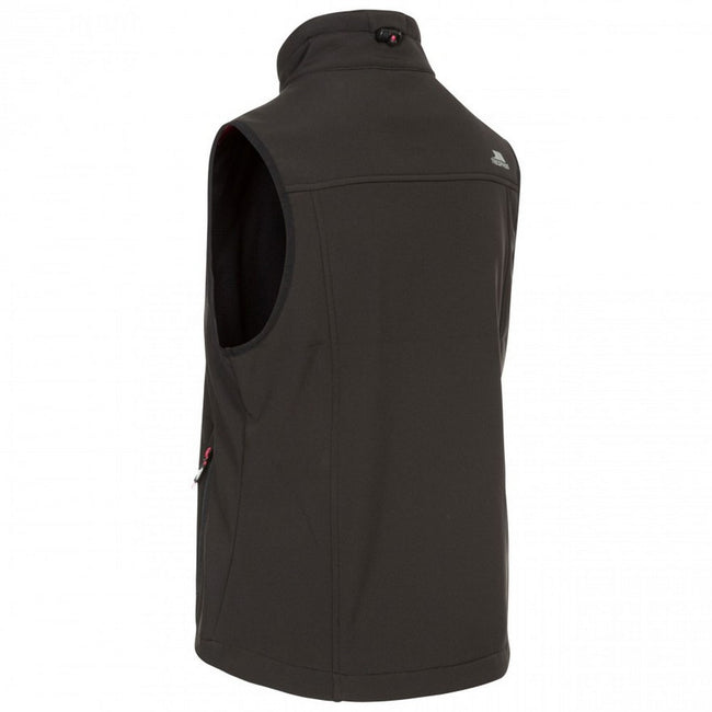 Black - Back - Trespass Womens-Ladies Norma Softshell Sleeveless Gilet