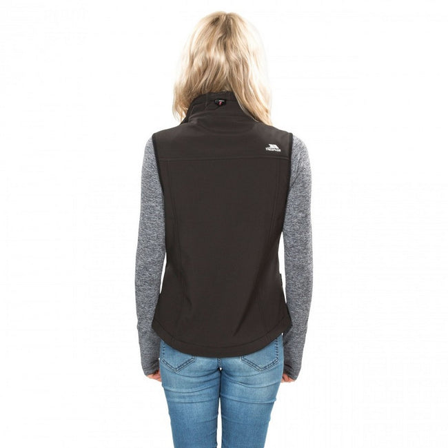 Black - Lifestyle - Trespass Womens-Ladies Norma Softshell Sleeveless Gilet