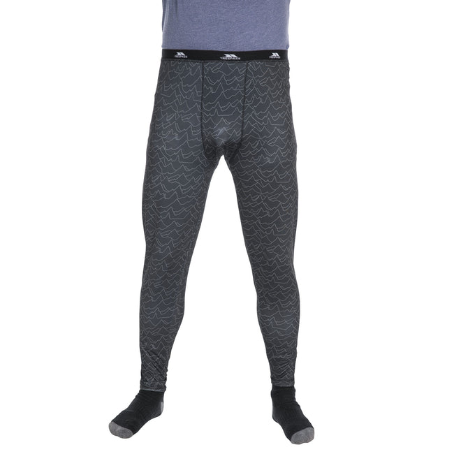 Mountain Print - Front - Trespass Mens Train Baselayer Trousers