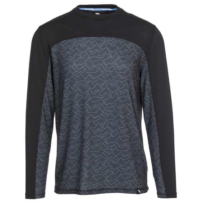 Mountain Print - Front - Trespass Mens Drill Baselayer Top