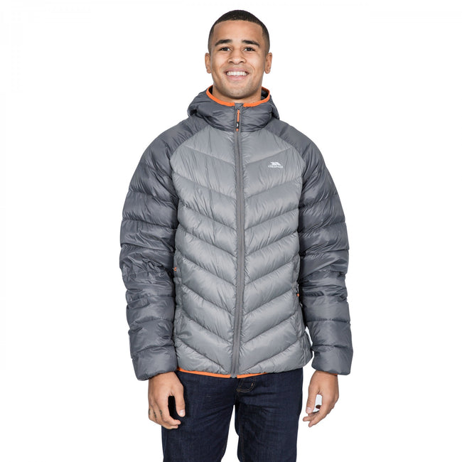 Storm Gray - Back - Trespass Mens Rusler Down Jacket