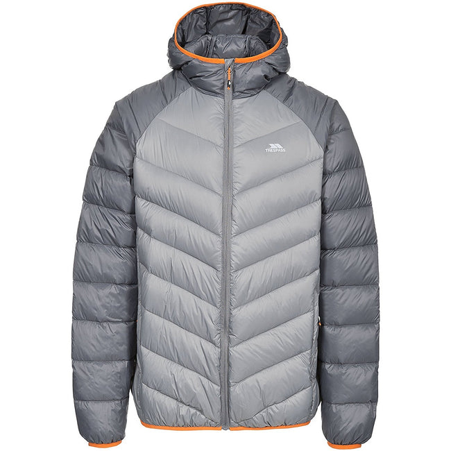 Storm Gray - Front - Trespass Mens Rusler Down Jacket