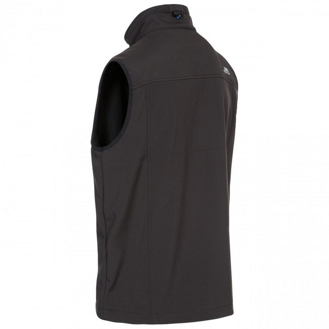 Black - Back - Trespass Mens Vassus Soft-shell Jacket