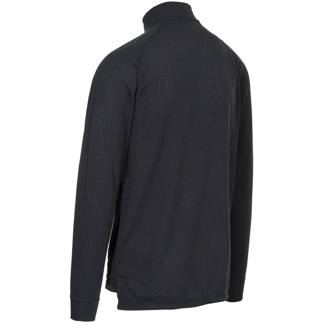 Black - Back - Trespass Adults Unisex Wise360 Quick Dry Base Layer Top