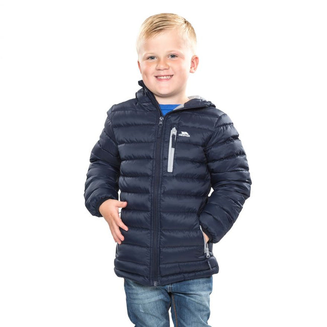 Navy - Back - Trespass Childrens-Kids Morley Down Jacket