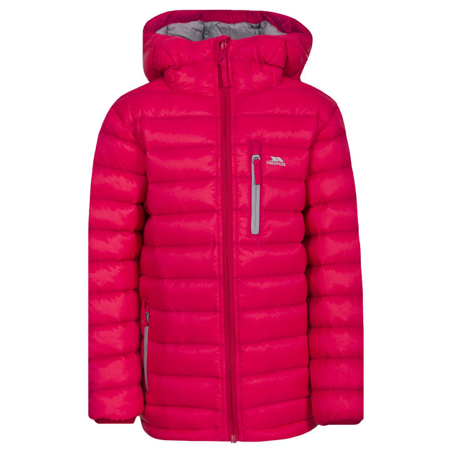 Raspberry - Back - Trespass Childrens-Kids Morley Down Jacket