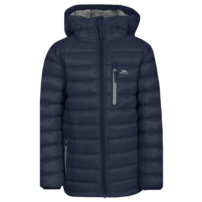 Navy - Front - Trespass Childrens-Kids Morley Down Jacket