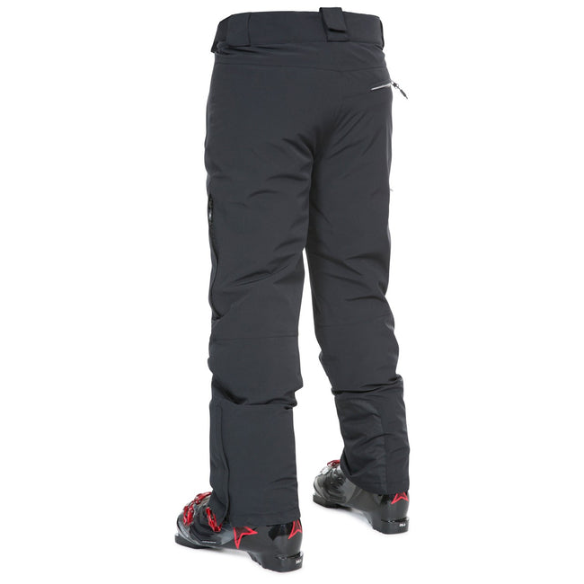 Black - Back - Trespass Mens Pitstop Waterproof Ski Trousers