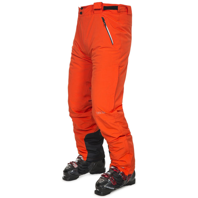Hot Orange - Front - Trespass Mens Pitstop Waterproof Ski Trousers
