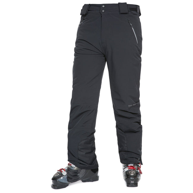 Black - Front - Trespass Mens Pitstop Waterproof Ski Trousers