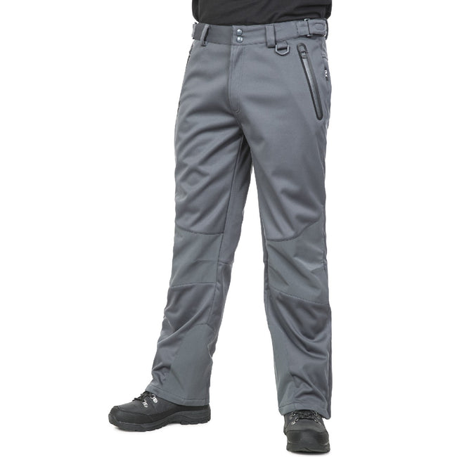 Carbon - Front - Trespass Mens Holloway Waterproof DLX Pants