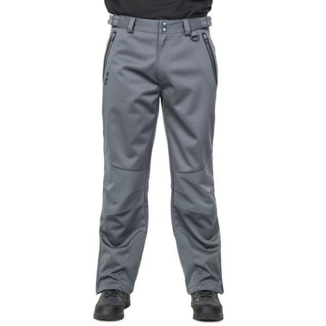 Carbon - Back - Trespass Mens Holloway Waterproof DLX Pants