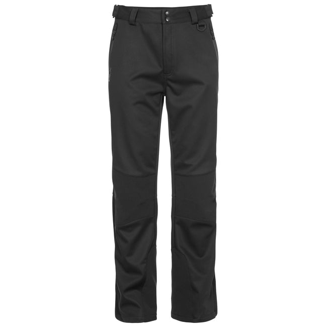 Black - Front - Trespass Mens Holloway Waterproof DLX Pants