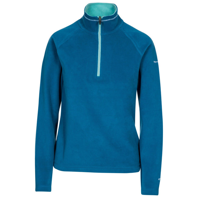 Cosmic Blue-Marine - Front - Trespass Womens-Ladies Skylar Fleece Top
